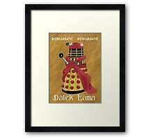 Dalek Lama Framed Print