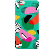 Flange - memphis inspired pop art retro throwback 1980s neon style art print decor hipster socal iPhone Case/Skin