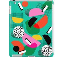 Flange - memphis inspired pop art retro throwback 1980s neon style art print decor hipster socal iPad Case/Skin