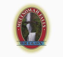 Multnomah Falls Columbia River Gorge Oregon Kids Tee
