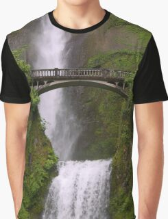 Multnomah Falls Columbia River Gorge Oregon Graphic T-Shirt