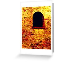Arched Window Greeting Card