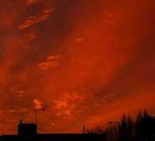 December sunset in a London suburb by Themis