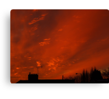 December sunset in a London suburb Canvas Print
