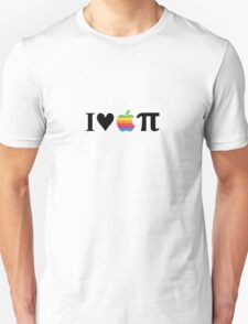 I Love Apple Pie Black T-Shirt