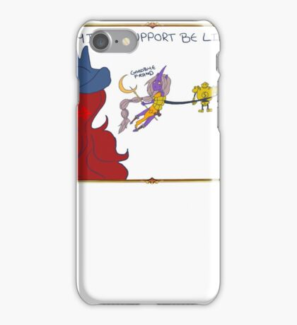 Playing Support.. iPhone Case/Skin