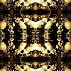 Mirrored Image Skulls Collage by ZugArt