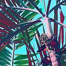 beautiful blue: under the palmtree by Ronald Eschner