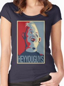 "Sloth from The Goonies - ""Hey You Guys"" Women's Fitted Scoop T-Shirt"