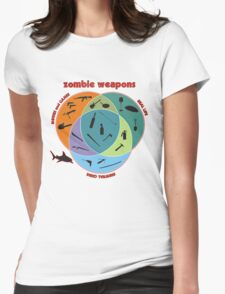 Zombie weapons Womens Fitted T-Shirt
