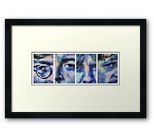 Beatles in Blue Collage Framed Print