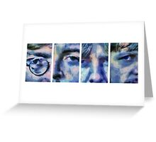 Beatles in Blue Collage Greeting Card