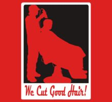 WE CUT GOOD HAIR! (SILHOUETTE) by S DOT SLAUGHTER
