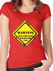 May Contain Traces Of Ink Women's Fitted Scoop T-Shirt