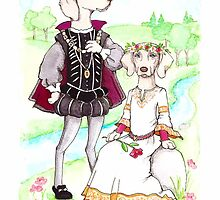 Hamlet and Ophelia Weimaraners by judzart