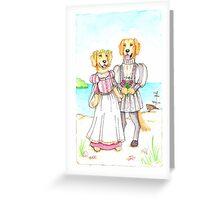 Shakespeare's Miranda and Ferdinand Golden Retrievers Greeting Card