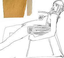 girl on chair by Loui  Jover
