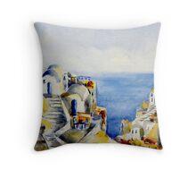 Memories of Santorini #3 Throw Pillow