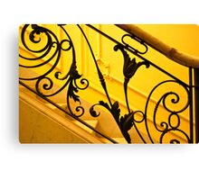 Mansion Staircase Canvas Print