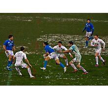 England v Italy pass 2012 Photographic Print