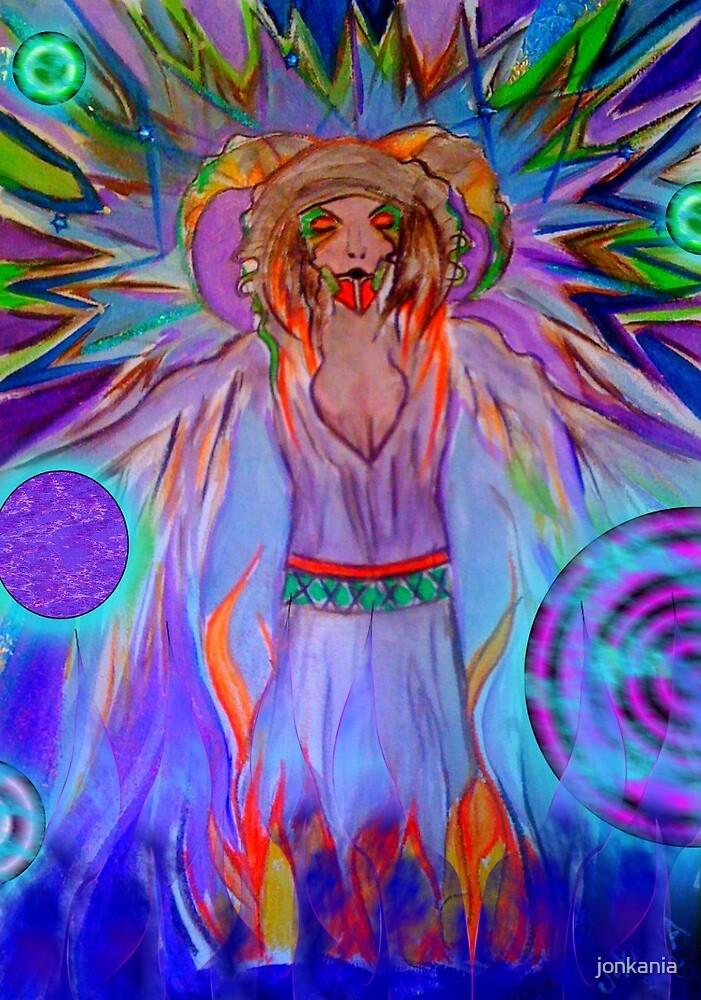 Sorcerer - Digitally enhanced fantasy illustration by jonkania