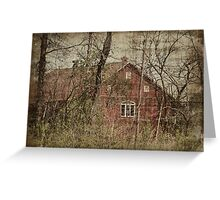 Barn through the Trees Greeting Card