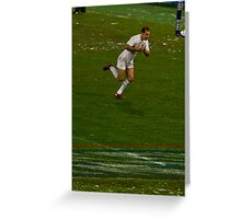 England v Italy Rugby 2012 Charlie breakout Greeting Card
