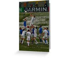 England v Italy pass 2012 lineout Greeting Card