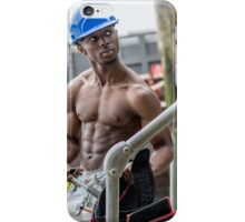 Workman at Low Tide on the Thames River with Frank iPhone Case/Skin
