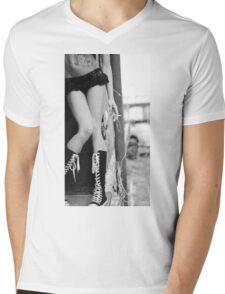 Black and white trash Mens V-Neck T-Shirt