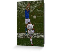 England v Italy pass 2012 kick away Greeting Card