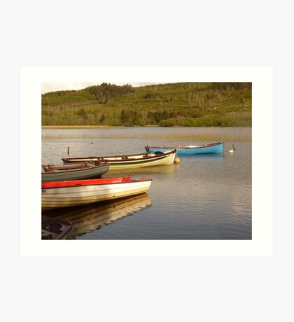 Fishing Boats On Lough Finn Art Print