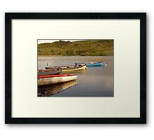 Fishing Boats On Lough Finn Framed Print