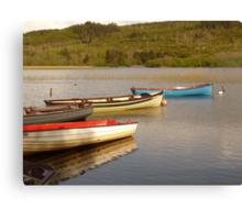 Fishing Boats On Lough Finn Canvas Print