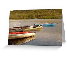 Fishing Boats On Lough Finn Greeting Card