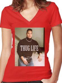 Throwback - Dwayne Johnson Women's Fitted V-Neck T-Shirt