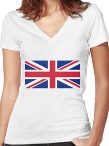 United Kingdom Women's Fitted V-Neck T-Shirt