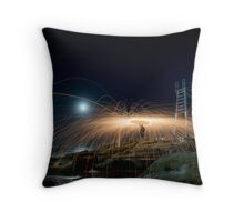 Steel Spiral Throw Pillow