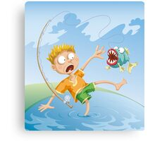 Horrible Fishing Accident Canvas Print