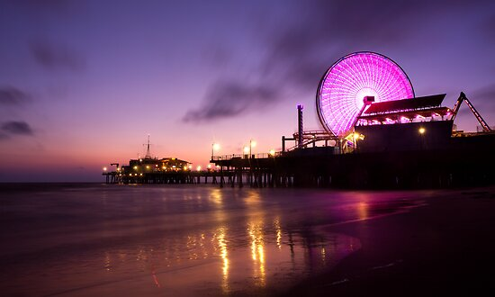 Santa Monica pier at Sunset by Firesuite