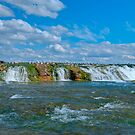 The Green Cascade - Upper Niagara Rapids by JHRphotoART