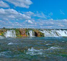 The Green Cascade - Upper Niagara Rapids by JHRphotoART