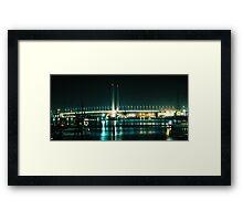 Lit Bridge & Water Framed Print