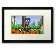 Spongehog Framed Print