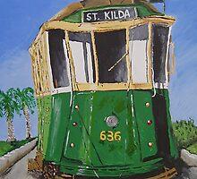 St. Kilda Tram by Bradyink