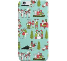 Woodland Christmas - Turquoise by Andrea Lauren  iPhone Case/Skin