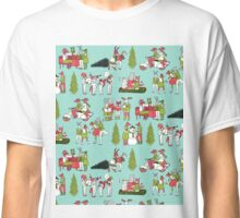 Woodland Christmas - Turquoise by Andrea Lauren  Classic T-Shirt