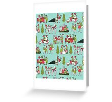 Woodland Christmas - Turquoise by Andrea Lauren  Greeting Card