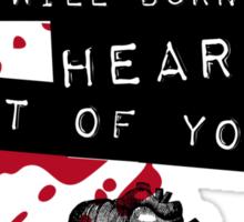 Moriarty - Heart Sticker