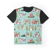 Woodland Christmas - Turquoise by Andrea Lauren  Graphic T-Shirt